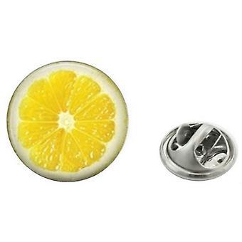 Bassin und Anstecknadel braun Lemon - Gelb