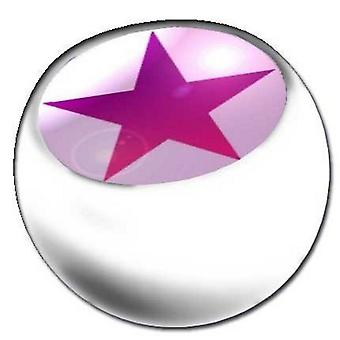 Piercing Replacement Ball White, Body Jewellery, Star Pink | 1,6 x 5 and 6 mm