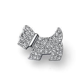 Oliver Weber Brooch Doggy Rhodium Crystal