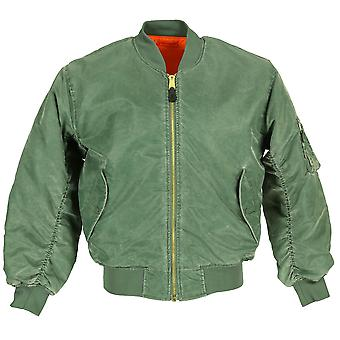 Skinhead Stonewashed MA1 Bomber Flight Army Jacket