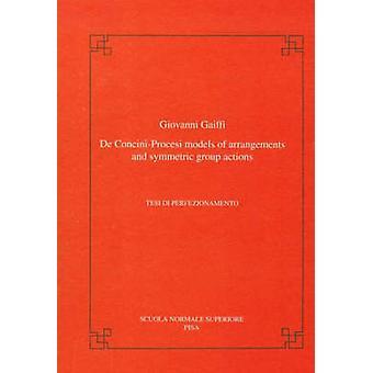 De Concini-procesi Models of Arrangements and Symmetric Group Actions
