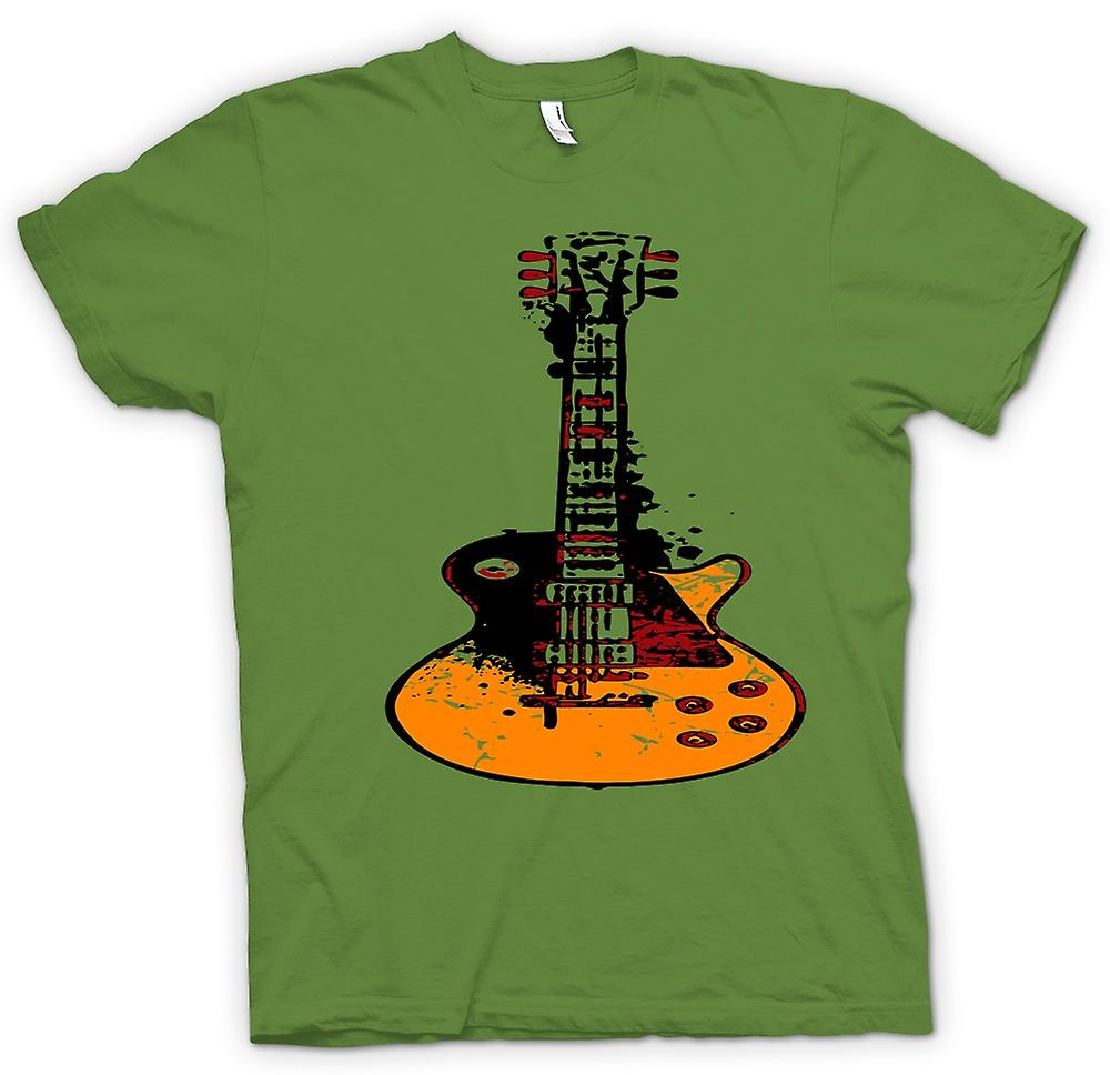 Mens T-shirt - Gibson Les Paul Guitar Rock Blues - Music
