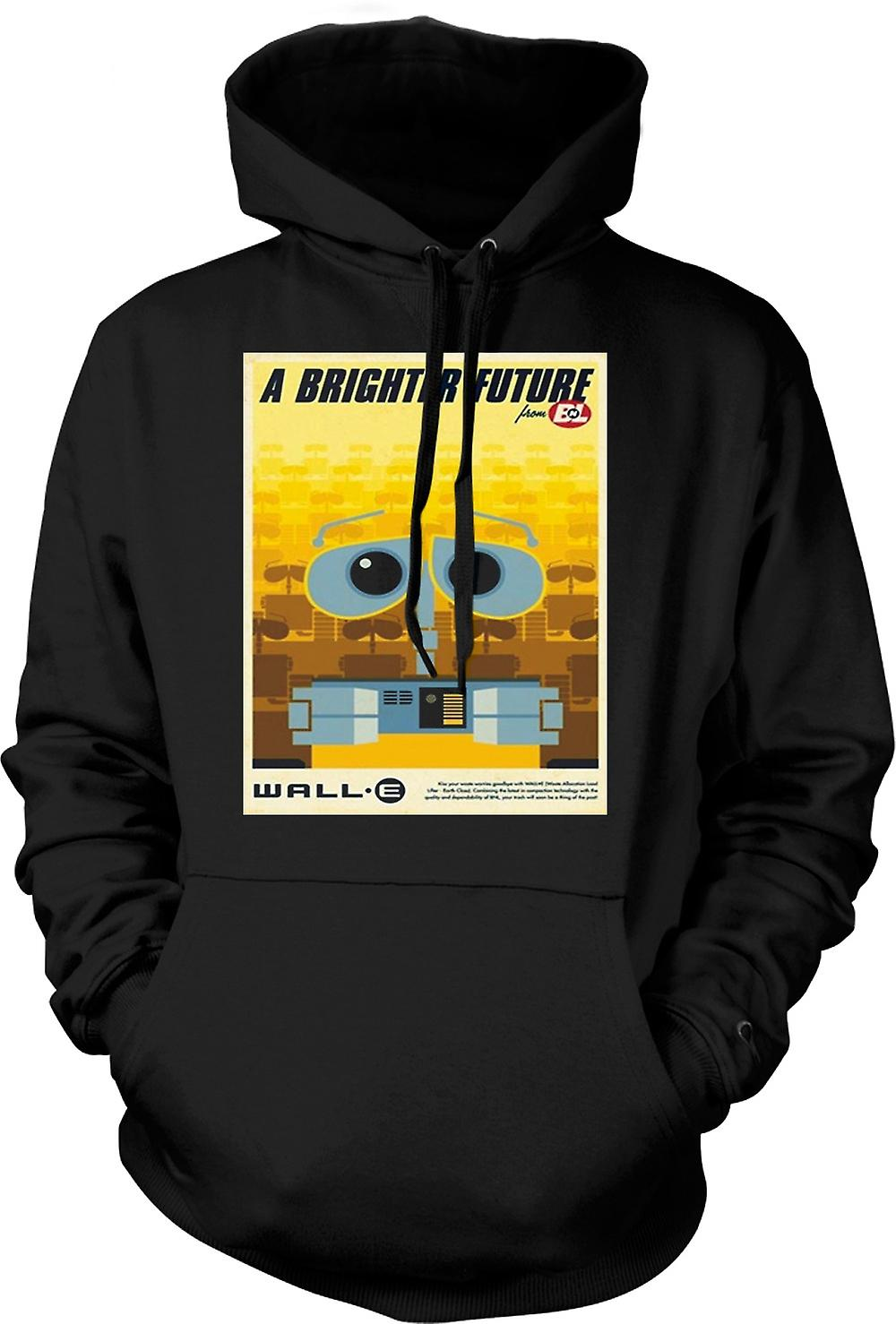 Mens Hoodie - Wall E - Brighter Future - Robot