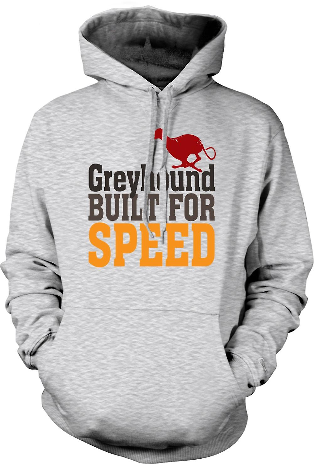 Mens Hoodie - Greyhound Built For Speed