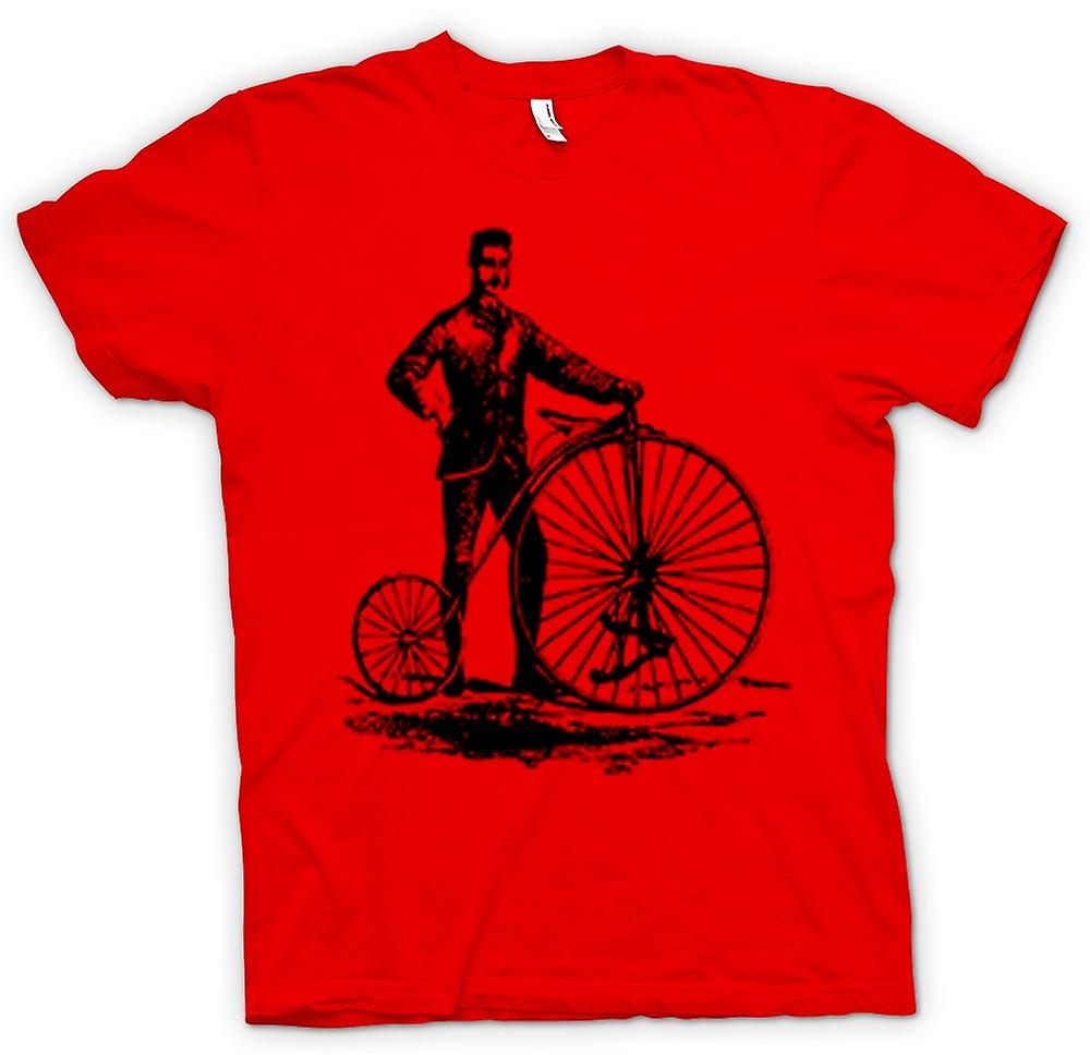 Mens t-shirt-Penny Farthing bicicletta classica