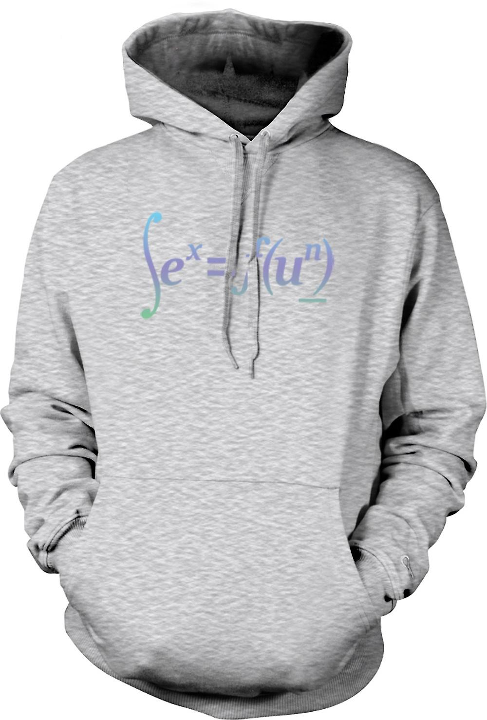 Mens Hoodie - seks = Fun - Math formule Design