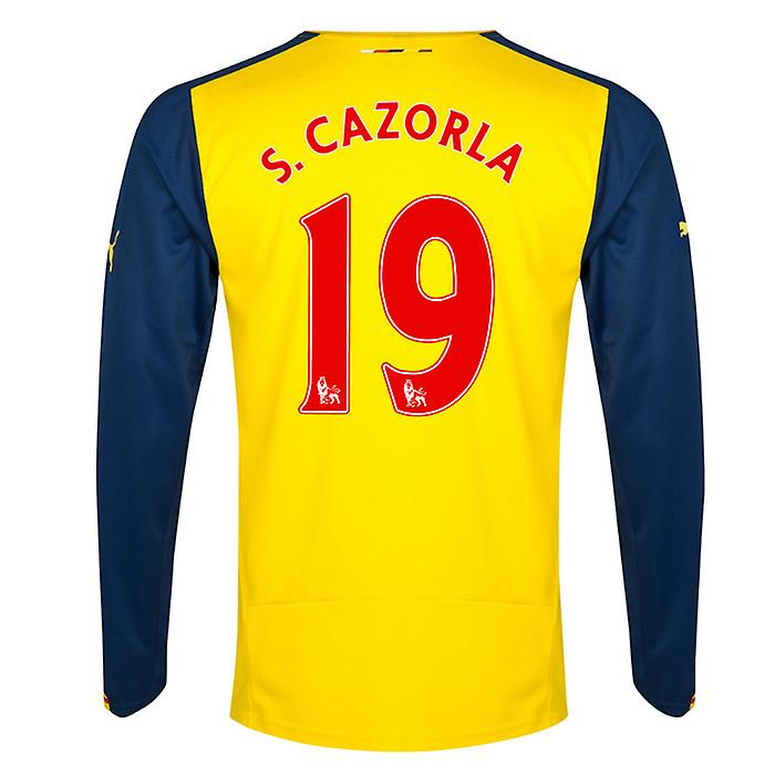 2014-15 Arsenal Long Sleeve Away Shirt (S.Cazorla 19)