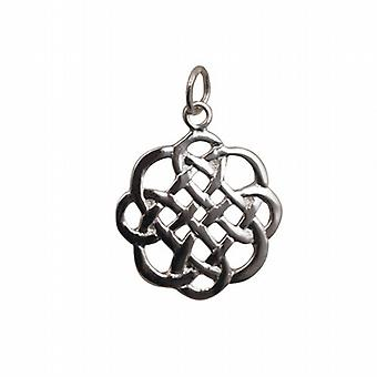 Silver  20x21mm Celtic knot Pendant