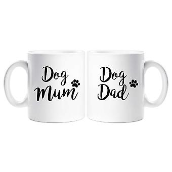 Taza de mamá perro papá perro juego