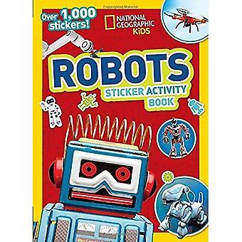 Libro de actividad de la etiqueta engomada de Robots de National Geographic Kids