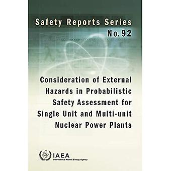 Consideration of External Hazards in Probabilistic Safety Assessment for Single Unit and Multi-Unit Nuclear Power Plants. (Safety Reports Series)