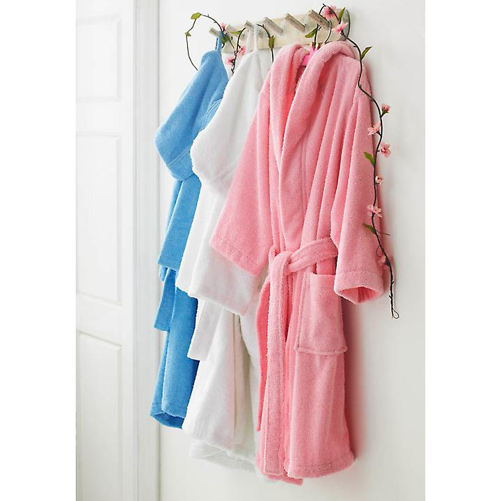 Children's Pure Cotton Bathrobe with Hood