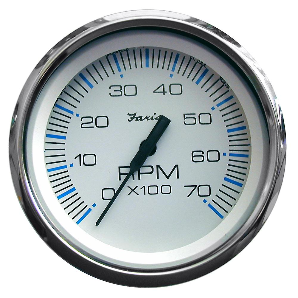 Faria Chesapeake blanc SS 4& 034; Tachometer - 7,000 RPM (Gas - All Outboards)