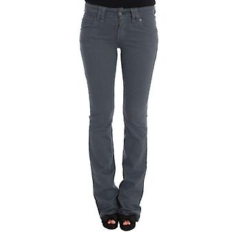 Galliano Blue Cotton Blend Slim Fit Bootcut Jeans -- SIG3587568