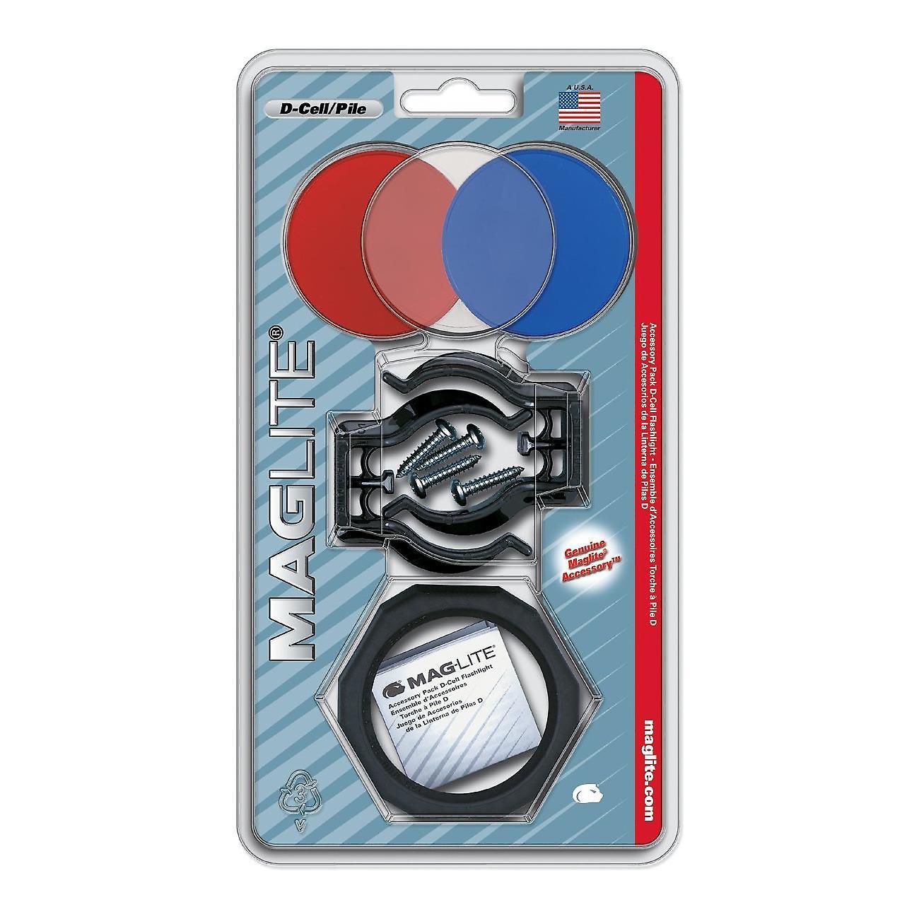 Maglite D cell accessory kit - lens - holder - bracket clamps