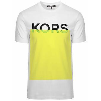 Michael Kors Michael kors hvit & Yellow logo T-skjorte