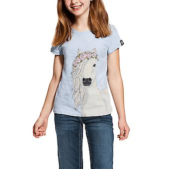 Ariat Ragazze Festival Cavallo Tee - Chambray Heather