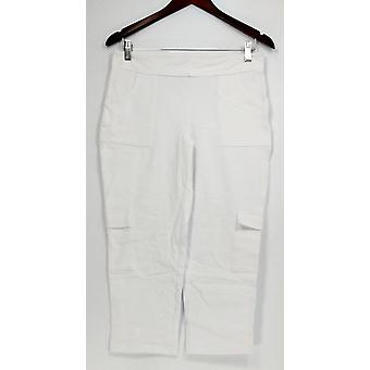 Women with Control Women's Petite Pants S Cropped Cargo White A264076
