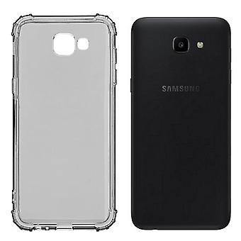 Cubierta trasera A prueba de golpes TPU 1.5 mm Samsung J4 Plus Transparente Negro