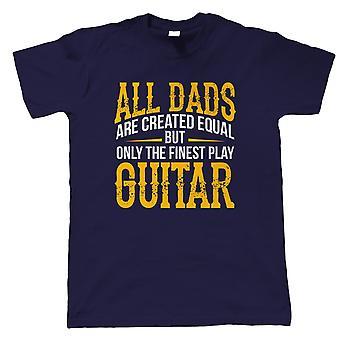 Feinste Väter spielen Gitarre Herren Musik T-Shirt | Gitarre Bass Schlagzeug Klavier Violine Cello Ukulele Oud | Ideal Top Beste Besondere No1 Vater Ehemann Opa | Vatertagsgeschenk ihn Papa