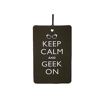 Keep Calm And Geek On Car Air Freshener