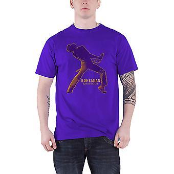 Official Bohemian Rhapsody T Shirt Queen Fortune Movie Logo new Mens Purple