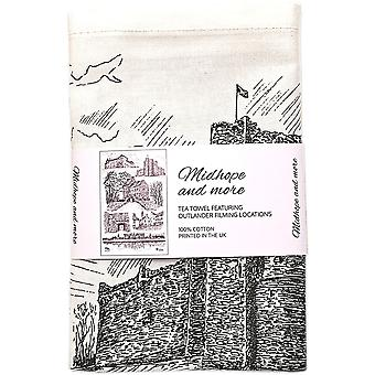 Midhope and more - Tea Towel Featuring Outlander Filming Locations