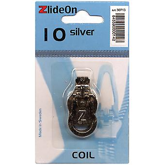 Zlideon Zipper Pull Replacements Coil 10 Silver 3071 3