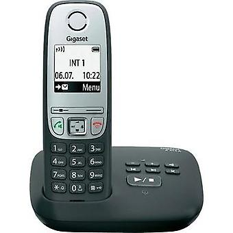 Cordless analogue Gigaset A415A schwarz Answerphone, Hands-free Black, Silver