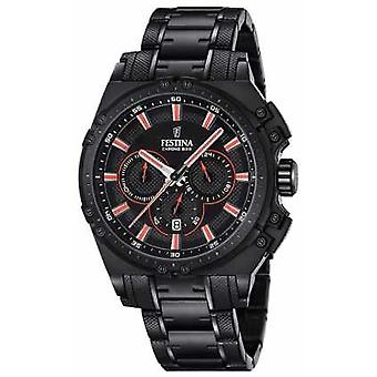Festina 2016  Mens Chronograph Black And Red F16969/4 Watch