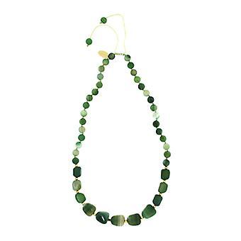 Lola Rose Ellare collana striscia verde agata
