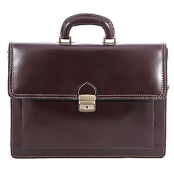 CTM work bag, satchel, leather men's 24-hour document holder made in italy