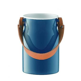 Lsa Utility Utensil Pot & Leather Handle Juniper Blue H29cm *