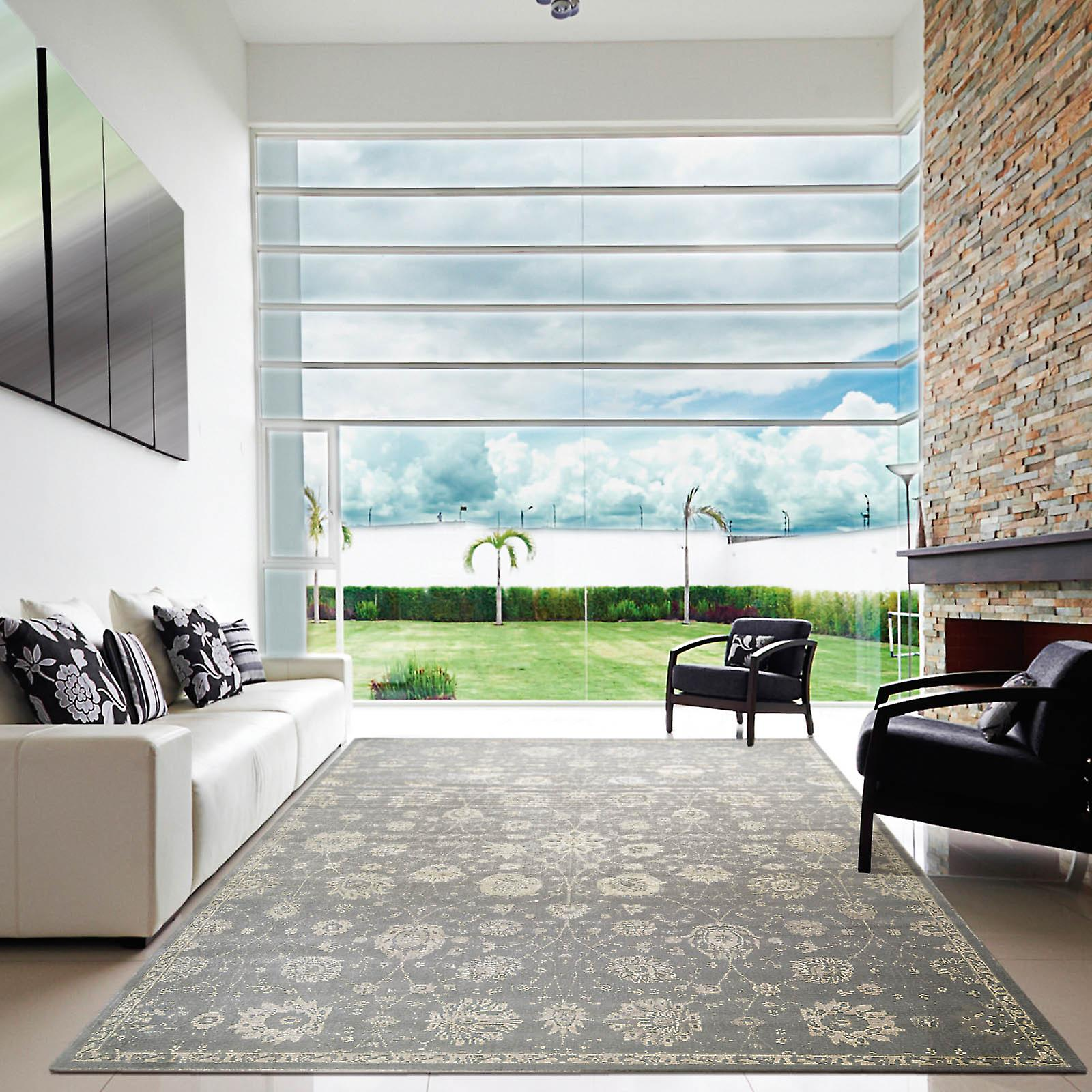 Nourison Luminance Rugs Lum06 In Ironstone