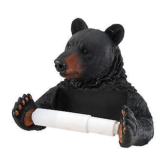 Black Bear Helper Hanging Toilet Paper Holder