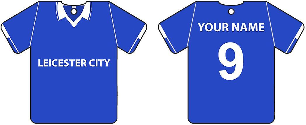 Personalised Leicester City Football Shirt Car Air Freshener
