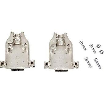 D-SUB housing Number of pins: 25 Metal 180 ° Silver