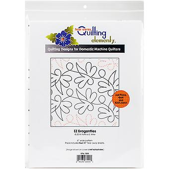 Quilting Creations Printed Tear Away Quilting Paper 4/Pkg-EZ Dragonflies 6
