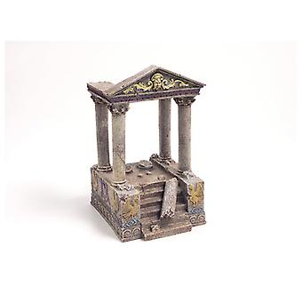 Blue Ribbon Ornament Temple Ruins & Steps 11 X13 X20cm