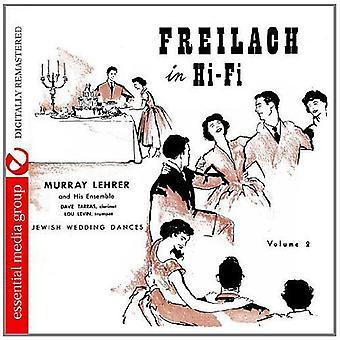 Murray Lehrer Ensemble - Murray Lehrer Ensemble: Vol. 2-Freilach in HiFi-Qualität: jüdische Hochzeitstänze [CD] USA Import