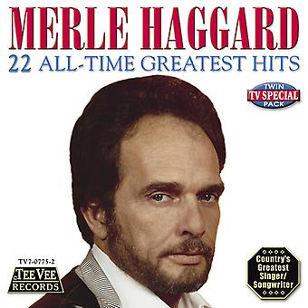 Merle Haggard - 22 All-Time Greatest Hits CD] USA importerer