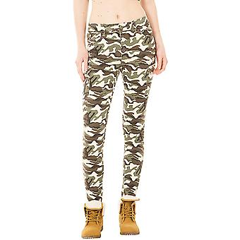 Slim Camo Cargo Trousers - Green & Brown