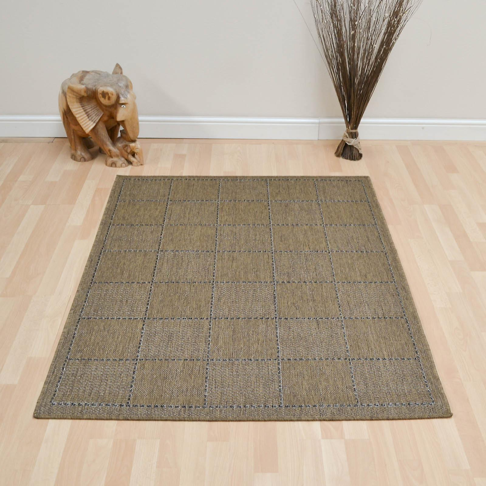 Super Sisalo Anti Slip Tapis de cuisine En Brown