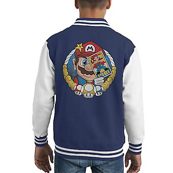 Super Mario Origin Jumpman 1981 Kid Varsity Jacket