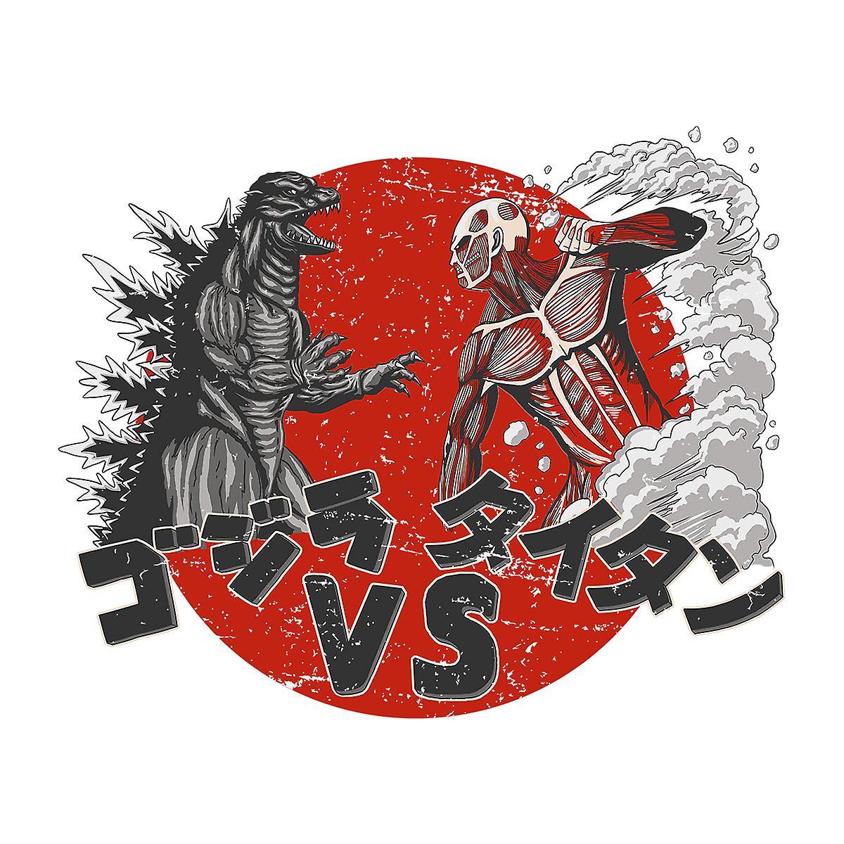 Godzilla Vs Titan Angriff Auf Titan Herren Baseball T