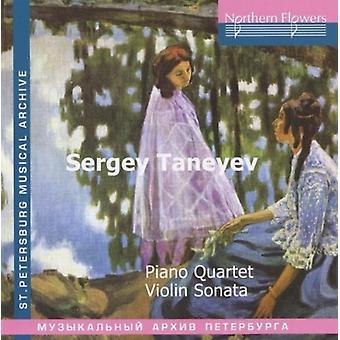Virsaladze / Taneyev kvartetten - Taneyev: klaver kvartetten Violin Sonata [CD] USA import