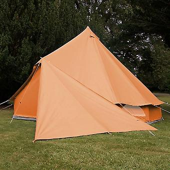 Boutique Camping Bell Tent Triangle Tarp - Tangerine Orange