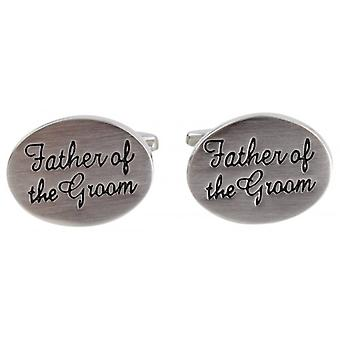 Zennor Father of the Groom Wedding Cufflinks - Silver
