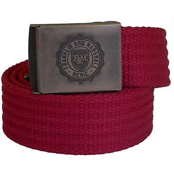 Franklin & Marshall One Size Plain Bordeaux Webbing Belt