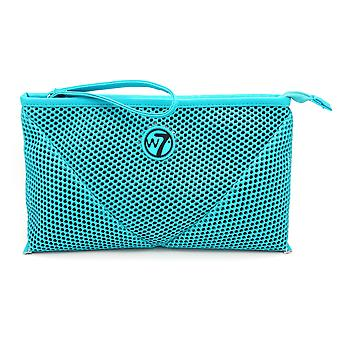 W7 Turquoise Mesh Large Cosmetic Toiletry Make Up Bag